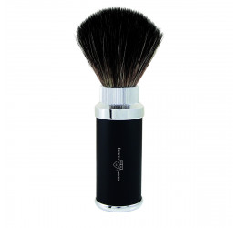 Edwin Jagger Synthetic Travel Shaving Brush (Black)