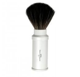 Edwin Jagger Synthetic Travel Shaving Brush (Silver)