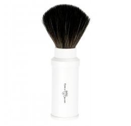 Edwin Jagger White Travel Shaving Brush (Black Synthetic)