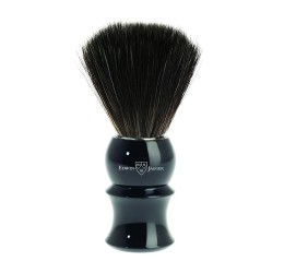 Edwin Jagger Imitation Ebony Shaving Brush (Black Synthetic)