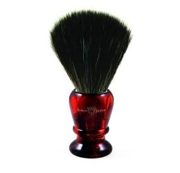 Edwin Jagger Imitation Tortoiseshell Shaving Brush (Black Synthetic)
