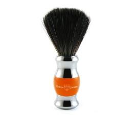 Edwin Jagger Orange & Chrome Shaving Brush (Black Synthetic)