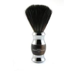 Edwin Jagger Imitation Horn & Chrome Shaving Brush (Black Synthetic)