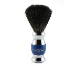 Edwin Jagger Blue & Chrome Shaving Brush (Black Synthetic)