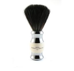 Edwin Jagger Imitation Ivory & Chrome Shaving Brush (Black Synthetic)