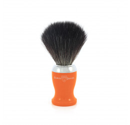Edwin Jagger Orange Shaving Brush (Black Synthetic)