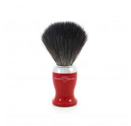Edwin Jagger Red Shaving Brush (Black Synthetic)