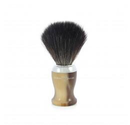 Edwin Jagger Imitation Horn Shaving Brush (Black Synthetic)