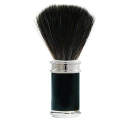 Edwin Jagger Chrome & Black Shaving Brush (Black Synthetic)