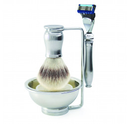 Edwin Jagger Chatsworth Barley 4 Piece Fusion Set (Synthetic Silver Tip
