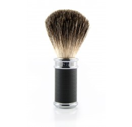Edwin Jagger Black/Chrome 3D Diamond Shaving Brush