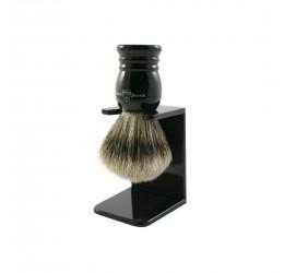 Edwin Jagger Imitation Ebony Super Badger Shaving Brush and Stand (Small)