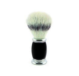 Edwin Jagger Bulbous Black Shaving Brush (Synthetic Silver Tip)