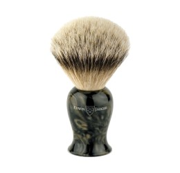 Edwin Jagger Plaza Imitation Black Marble Silver Tip Badger Shaving Brush
