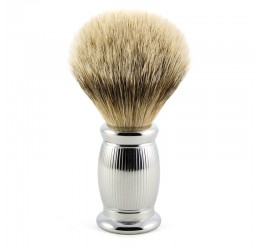 Edwin Jagger Bulbous Lined Shaving Brush (Silver Tip)