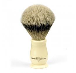 Edwin Jagger Chatsworth Imitation Ivory Shaving Brush (Silver Tip)