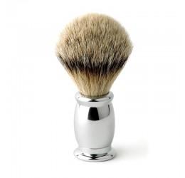 Edwin Jagger Bulbous Chrome Shaving Brush (Silver Tip)