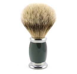 Edwin Jagger Green Bulbous Shaving Brush (Silver Tip Badger)