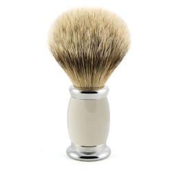 Edwin Jagger Grey Bulbous Shaving Brush (Super Badger)