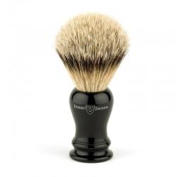 Edwin Jagger Loxley Imitation Ebony Shaving Brush (Silver Tip)