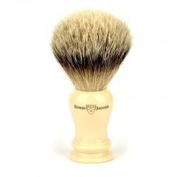 Edwin Jagger Loxley Imitation Ivory Shaving Brush (Silver Tip)