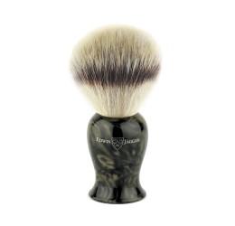 Edwin Jagger Plaza Imitation Black Marble Synthetic Silver Tip Shaving Brush