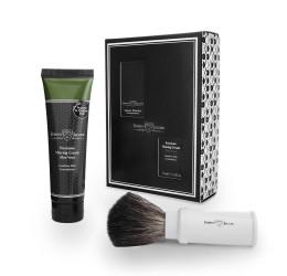 Edwin Jagger White Travel Shaving Brush Gift Set (Aloe Vera)