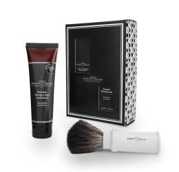 Edwin Jagger White Travel Shaving Brush Gift Set