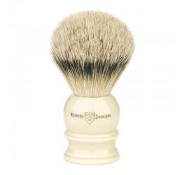 Edwin Jagger Imitation Ivory Shaving Brush (Silver Tip)