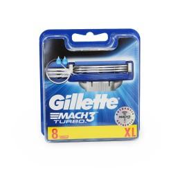 Gillette Mach3 Turbo Razor Blades - 8 Refills