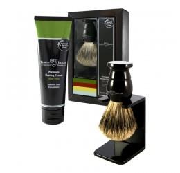 Edwin Jagger Imitation Ebony Shaving Brush and Cream Gift Set