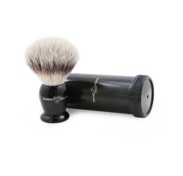 Edwin Jagger Imitation Ebony Synthetic Silver tip Travel Brush & Tube