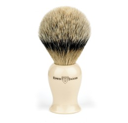 Edwin Jagger Imitation Ivory Plaza Super Badger Shaving Brush