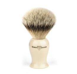 Edwin Jagger Imitation Ivory Plaza Silver Tip Shaving Brush