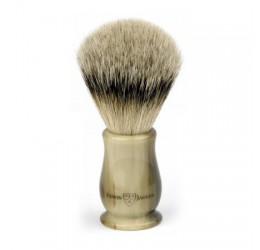 Edwin Jagger Chatsworth Imitation Horn Shaving Brush (Silver Tip)
