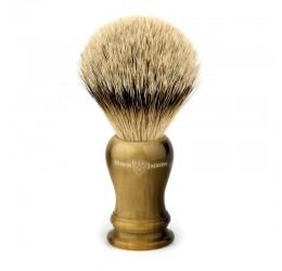 Edwin Jagger Loxley Imitation Horn Shaving Brush (Silver Tip)