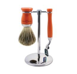 Edwin Jagger 3pc Orange Shaving Set (Mach3)